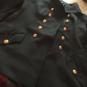 Chanel grey jacket classic cc gold buttons Classic